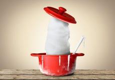 红色罐 免版税库存图片
