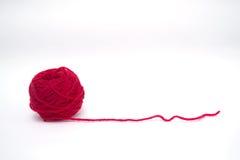 红色羊毛心脏 免版税图库摄影