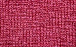 红色羊毛纹理 免版税库存图片
