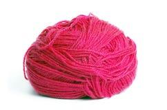 红色羊毛螺纹 免版税库存图片