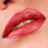 红色美丽的嘴唇 库存图片