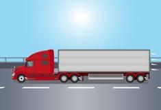 红色美国卡车  免版税库存照片