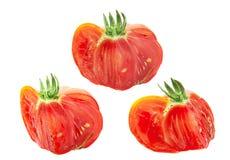 红色美国有肋骨蕃茄切片集合 库存照片