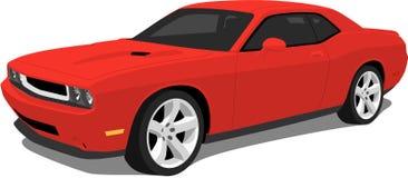 红色美国肌肉汽车 库存图片