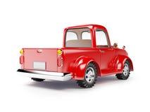 红色老卡车后面 免版税库存照片