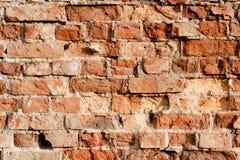 红色老砖墙 免版税库存图片