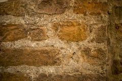 红色老被佩带的砖墙纹理背景 葡萄酒作用 库存图片