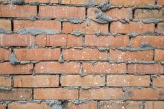 红色老被佩带的砖墙纹理背景 库存照片