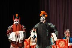 """红色胡子和杨Family†的黑人胡子将军北京Opera""""妇女将军 免版税库存图片"""