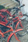 红色自行车葡萄酒 库存照片