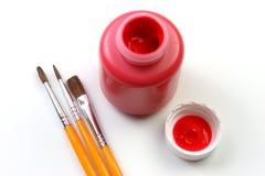 红色艺术性的表达式的孩子 库存照片