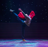 红色芭蕾这十年浩劫题材现代舞蹈 库存照片