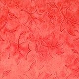 红色花卉皮革模式 库存照片