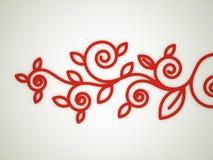 红色花卉装饰动机 免版税图库摄影