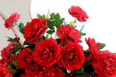 红色花在欢乐期间 库存照片
