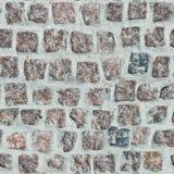 红色花岗岩铺路石  图库摄影
