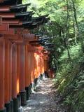 红色花托寺庙京都 库存照片