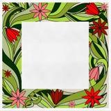 红色花的样式 库存照片