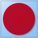 红色花红色心脏圈子纸艺术设计传染媒介 免版税库存照片