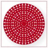 红色花红色心脏圈子纸艺术设计传染媒介 免版税图库摄影