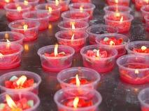 红色花蜡烛 免版税图库摄影