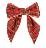 红色苏格兰人弓- Xmas 免版税库存图片