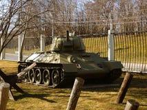 红色苏联军队的坦克 免版税库存图片