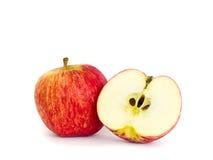 红色苹果计算机 库存照片
