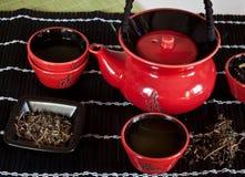 红色茶杯 免版税库存图片