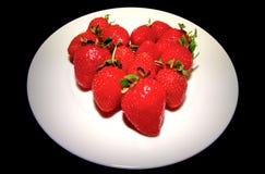 红色草莓秀丽 库存照片