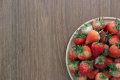 红色草莓,特写镜头,景深 库存照片