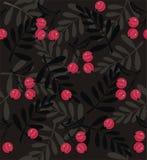 红色莓果一个无缝的样式 图库摄影