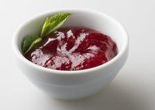 红色莓果果酱 图库摄影