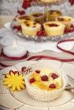 红色莓果酥皮点心馅饼 图库摄影