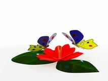 红色莲花的花 图库摄影