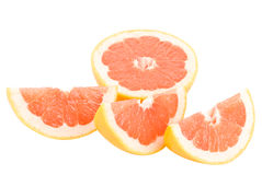 红色葡萄柚的peaces 库存照片