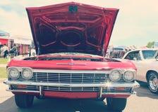红色葡萄酒汽车特写镜头 库存照片