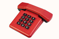 红色葡萄酒电话 免版税图库摄影