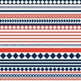 红色蓝色和白色条纹样式背景 向量例证