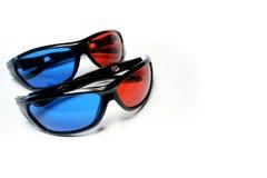 红色蓝色玻璃 免版税库存图片