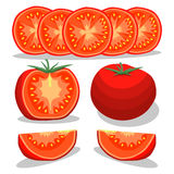 红色蕃茄的例证商标 库存图片