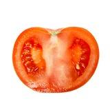 红色蕃茄的部分 免版税库存照片