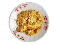 红色蚂蚁在煎蛋卷泰国煎蛋样式怂恿 免版税库存照片