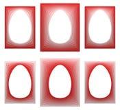 红色蛋形框架收藏 免版税库存照片