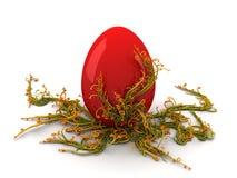 红色蛋转动 库存图片