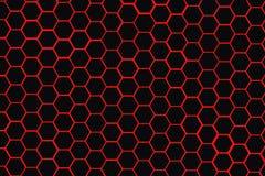 红色蜂箱黑色背景 免版税库存照片