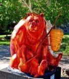 红色蜂蜜熊艺术品 免版税库存照片