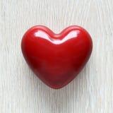 红色蜡心脏 库存照片