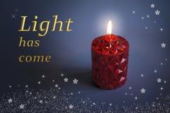 红色蜡烛圣诞节设计 免版税库存图片