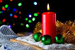 红色蜡烛 免版税库存图片